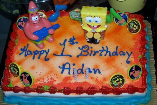 Admirable Wallpaper Spongebob Squarepants Birthday Cake On Desktop Com Birthday Cards Printable Inklcafe Filternl