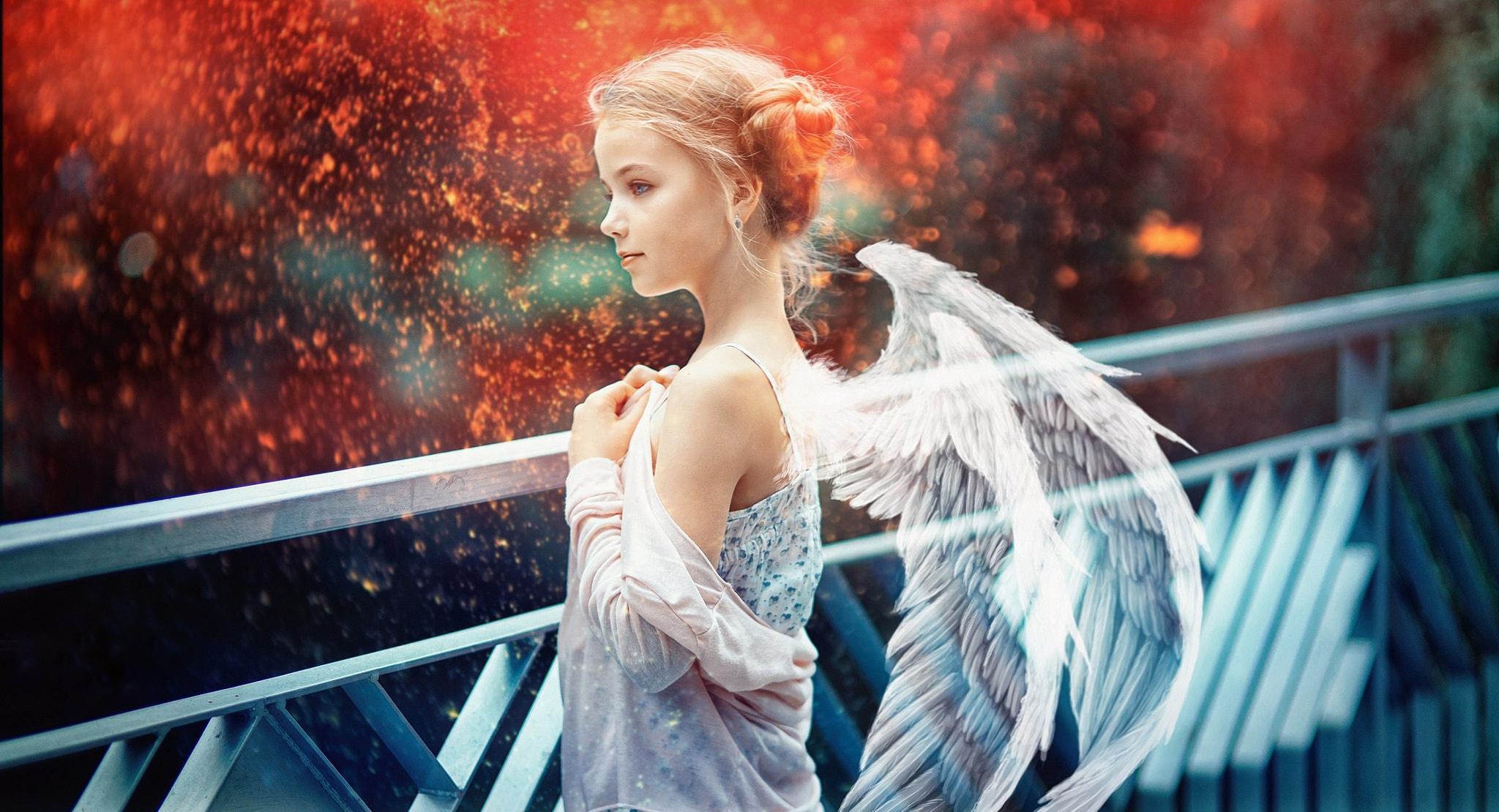 Картинки ангелов с крыльями красивые спиной