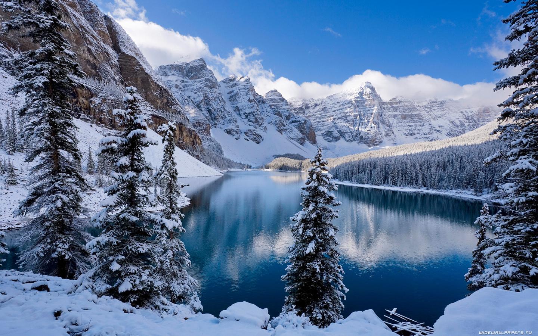представляет фотообои на комп зима в горах талисмана словно