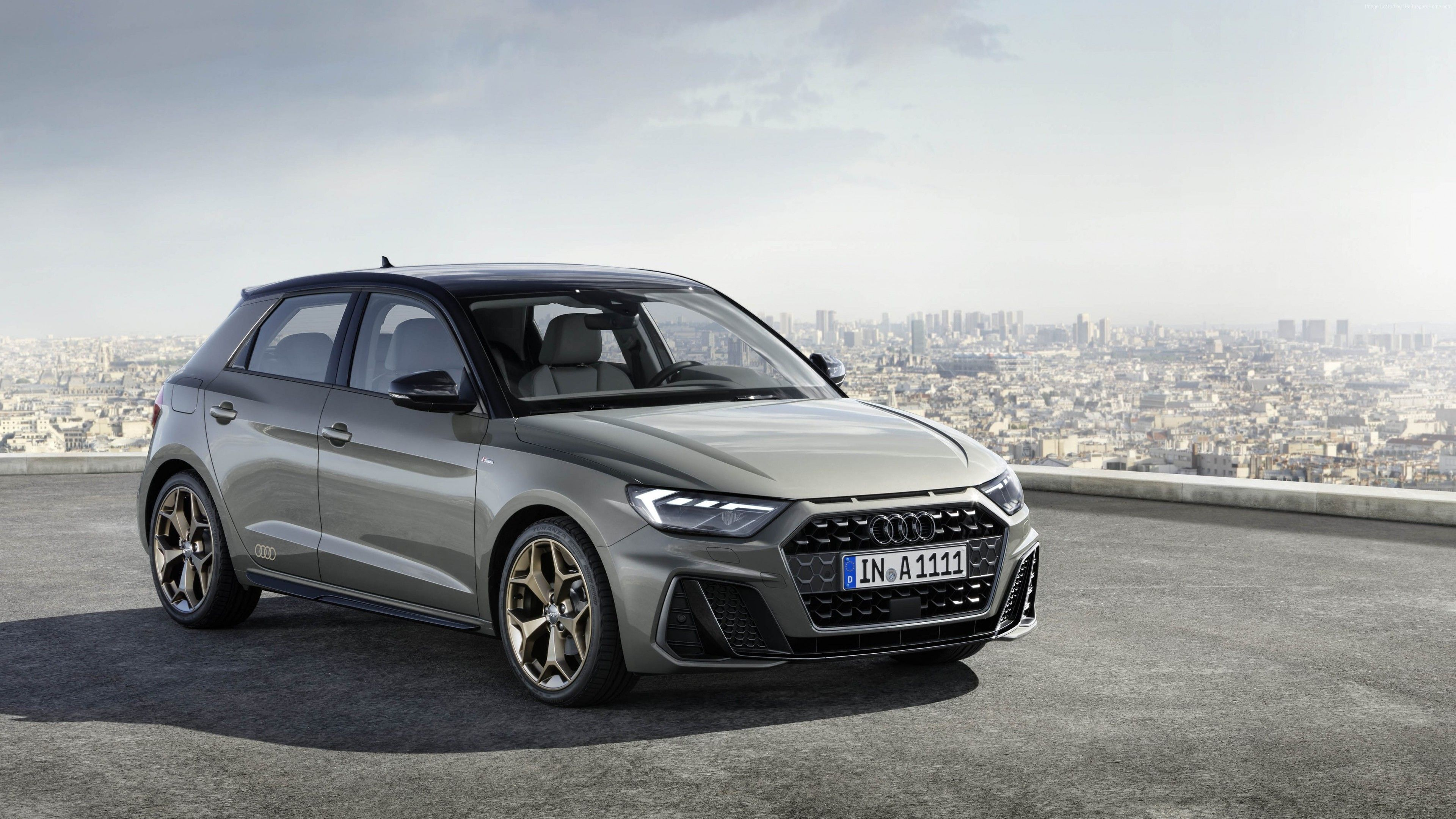 Wallpaper Silver car Audi A1 Sportback, 2019