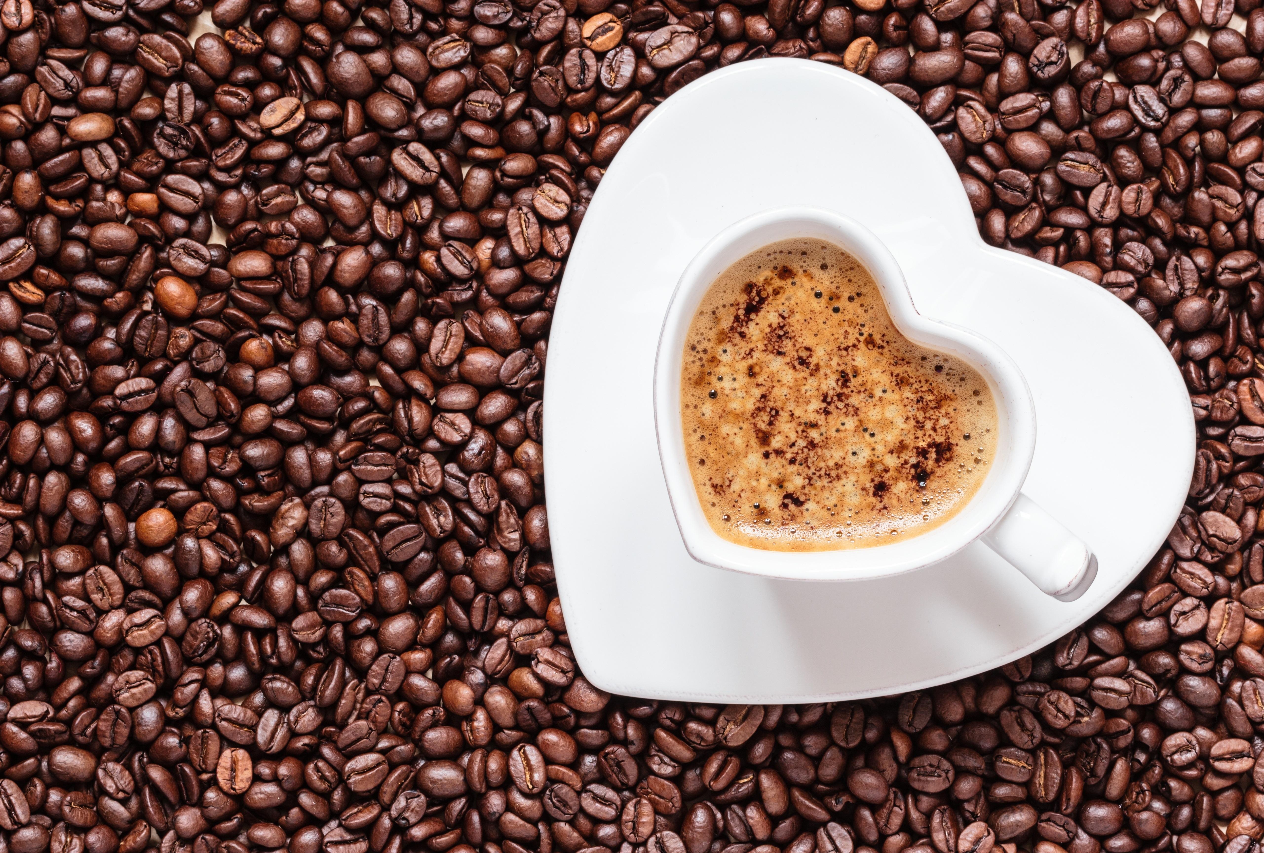 Картинки кружек с кофе в зернах