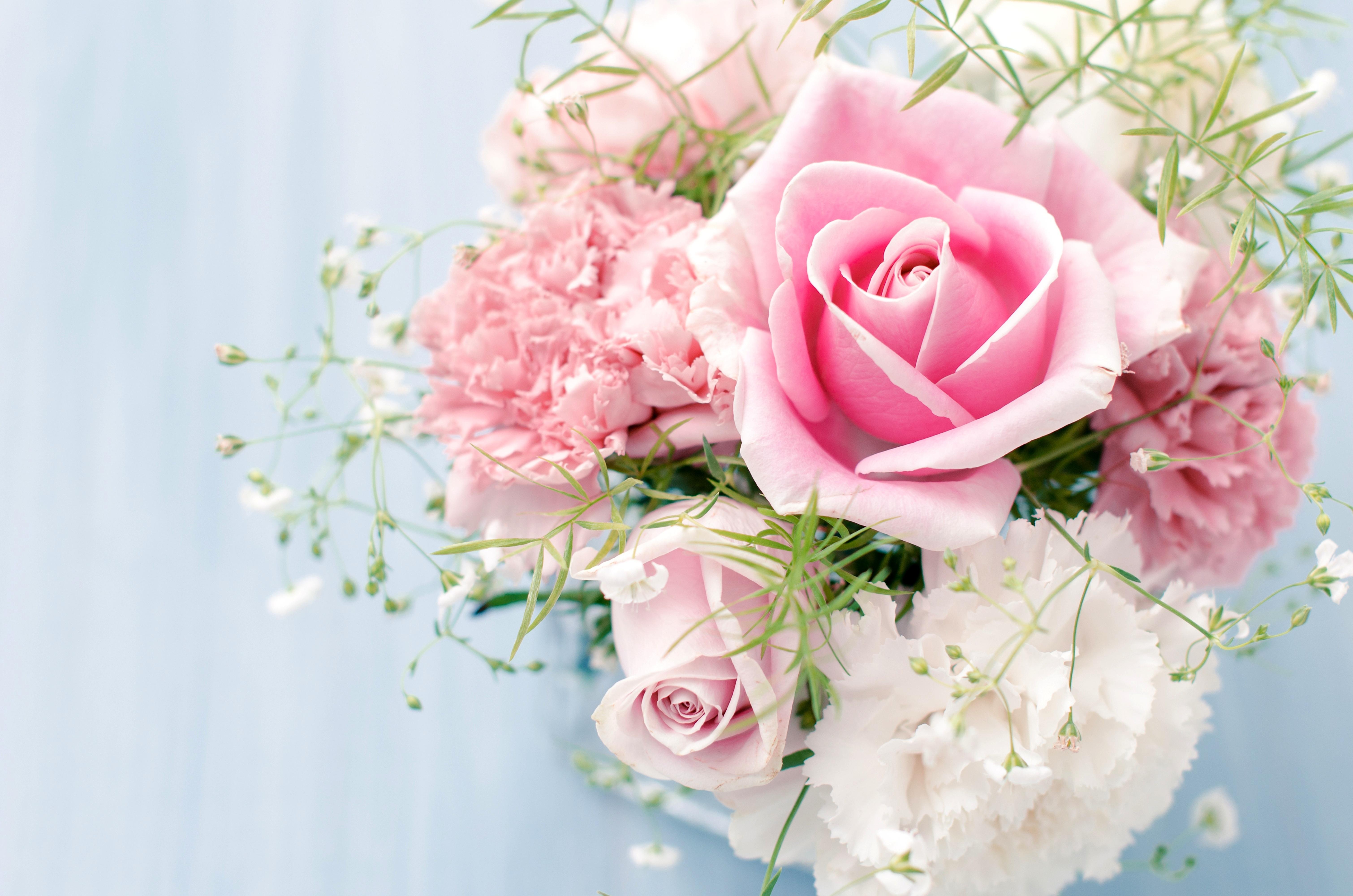 Картинка с шикарными розами и поздравлениями с днем рождения