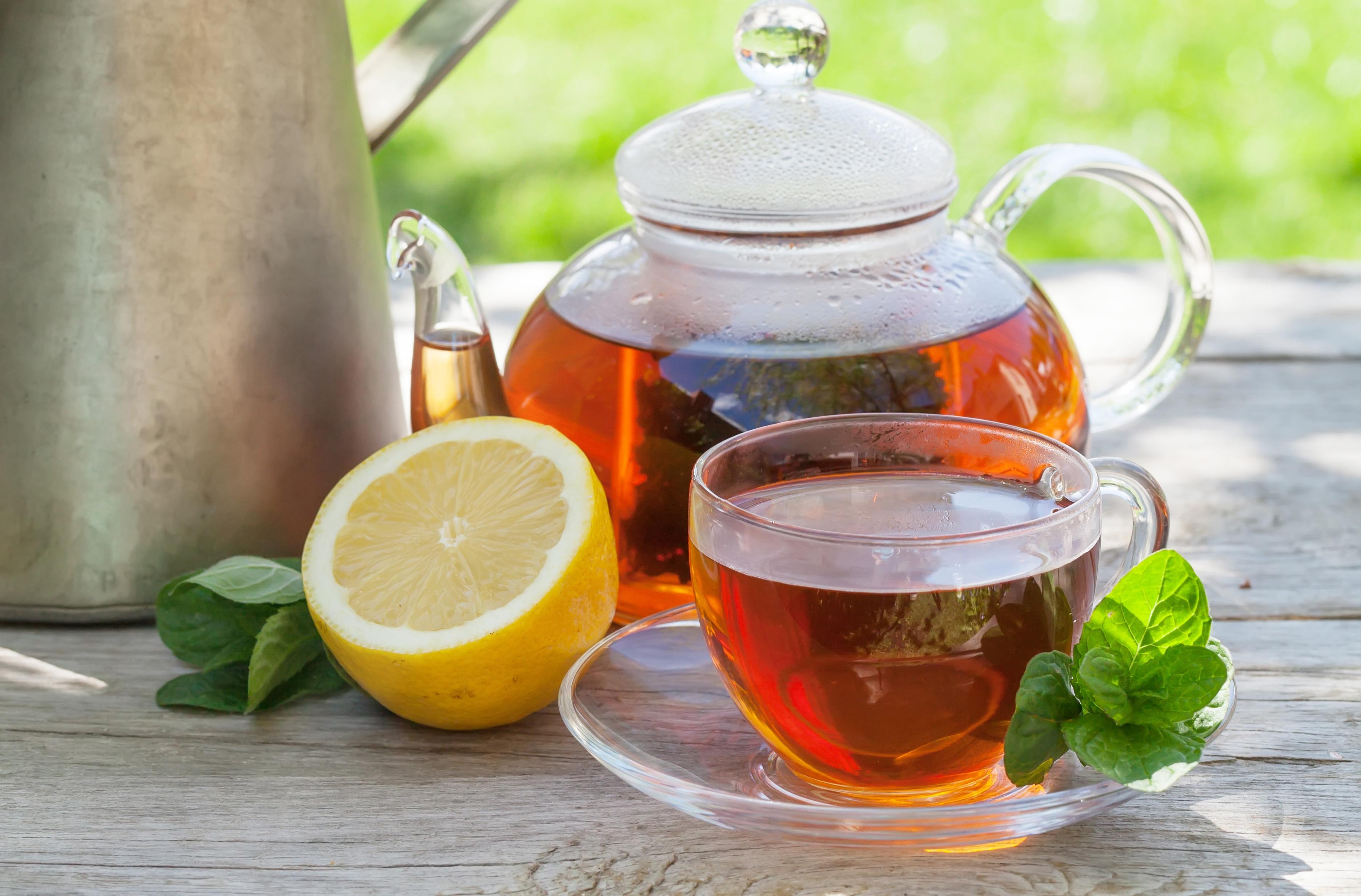 картинки чая с лимоном и мятой один самых