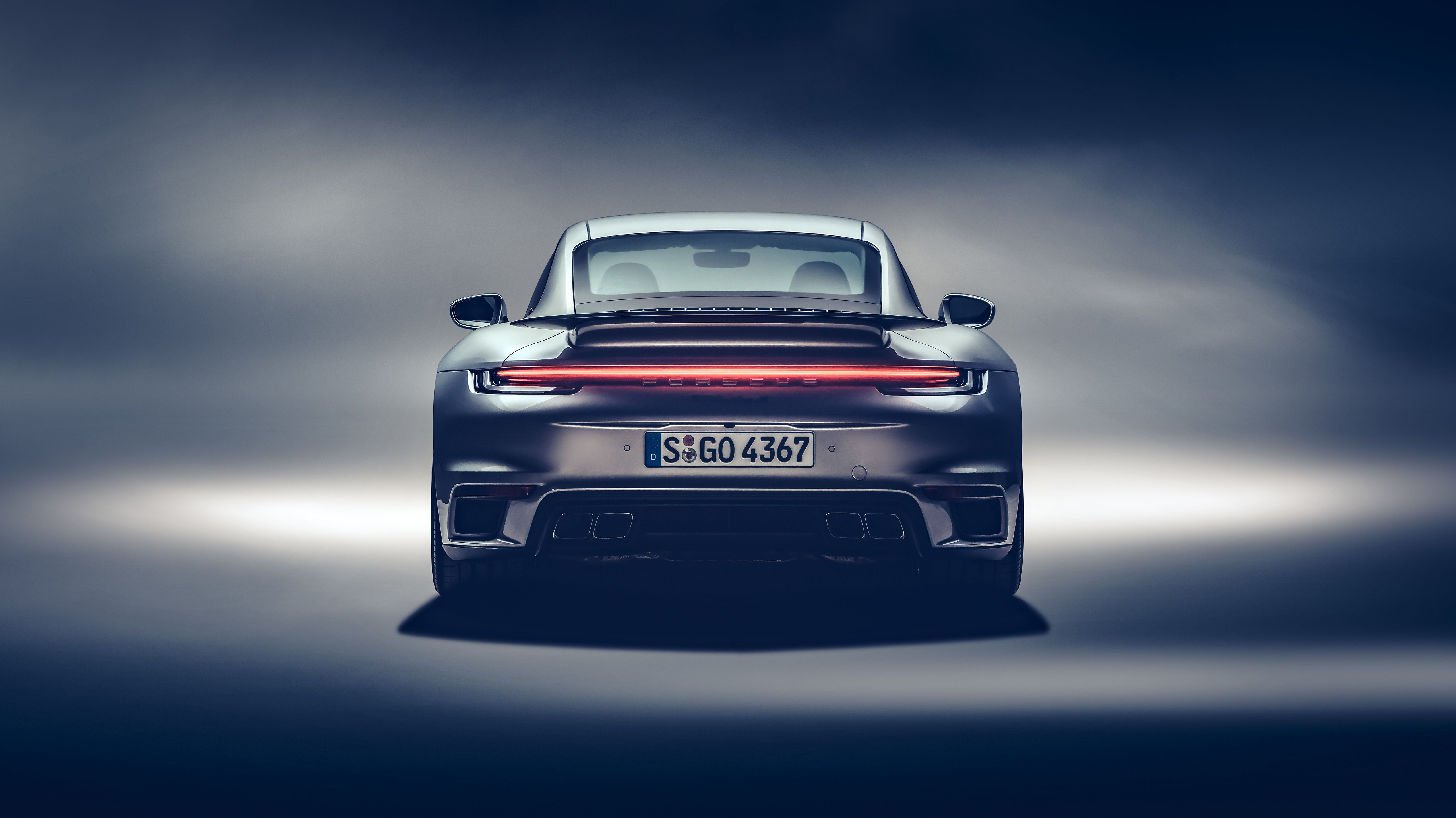 Wallpaper 2020 Porsche 911 Turbo S car rear view