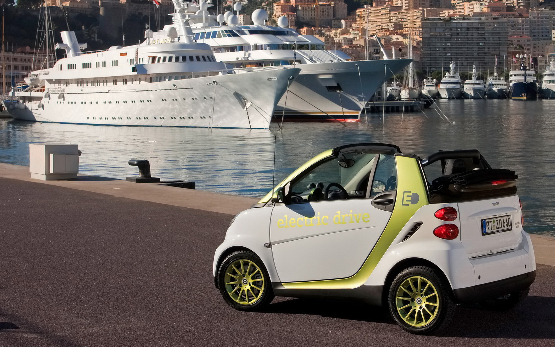 Wallpaper Smart fortwo Electric Drive