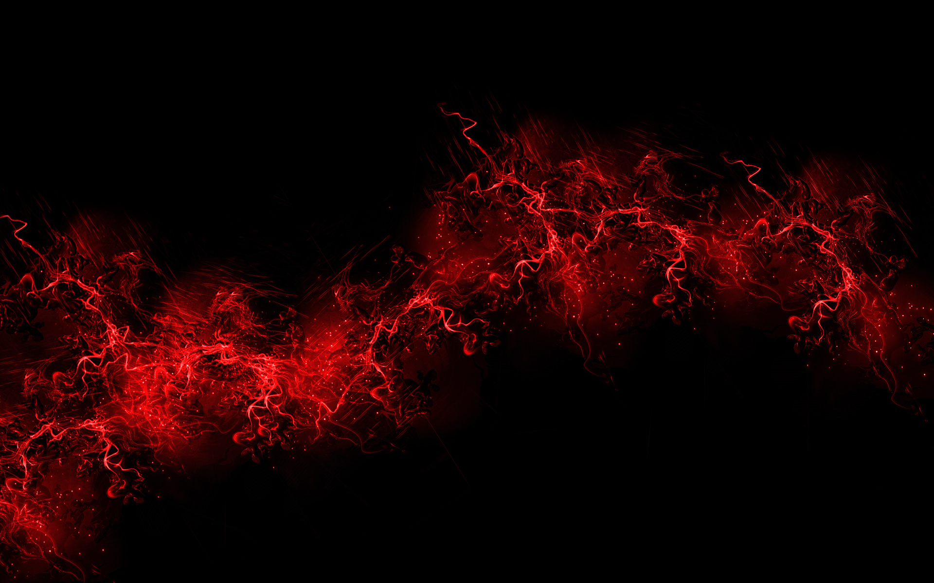 Wallpaper Red flames on black wallpaper