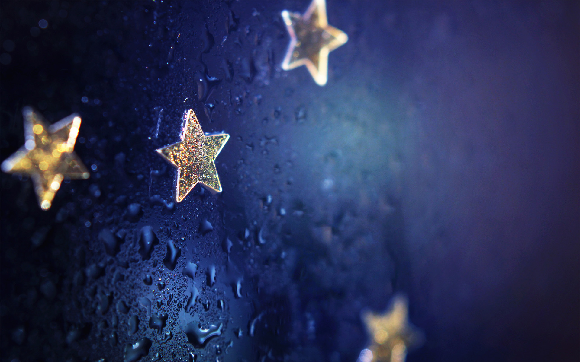 Wallpaper Drops, Blue background, Stars