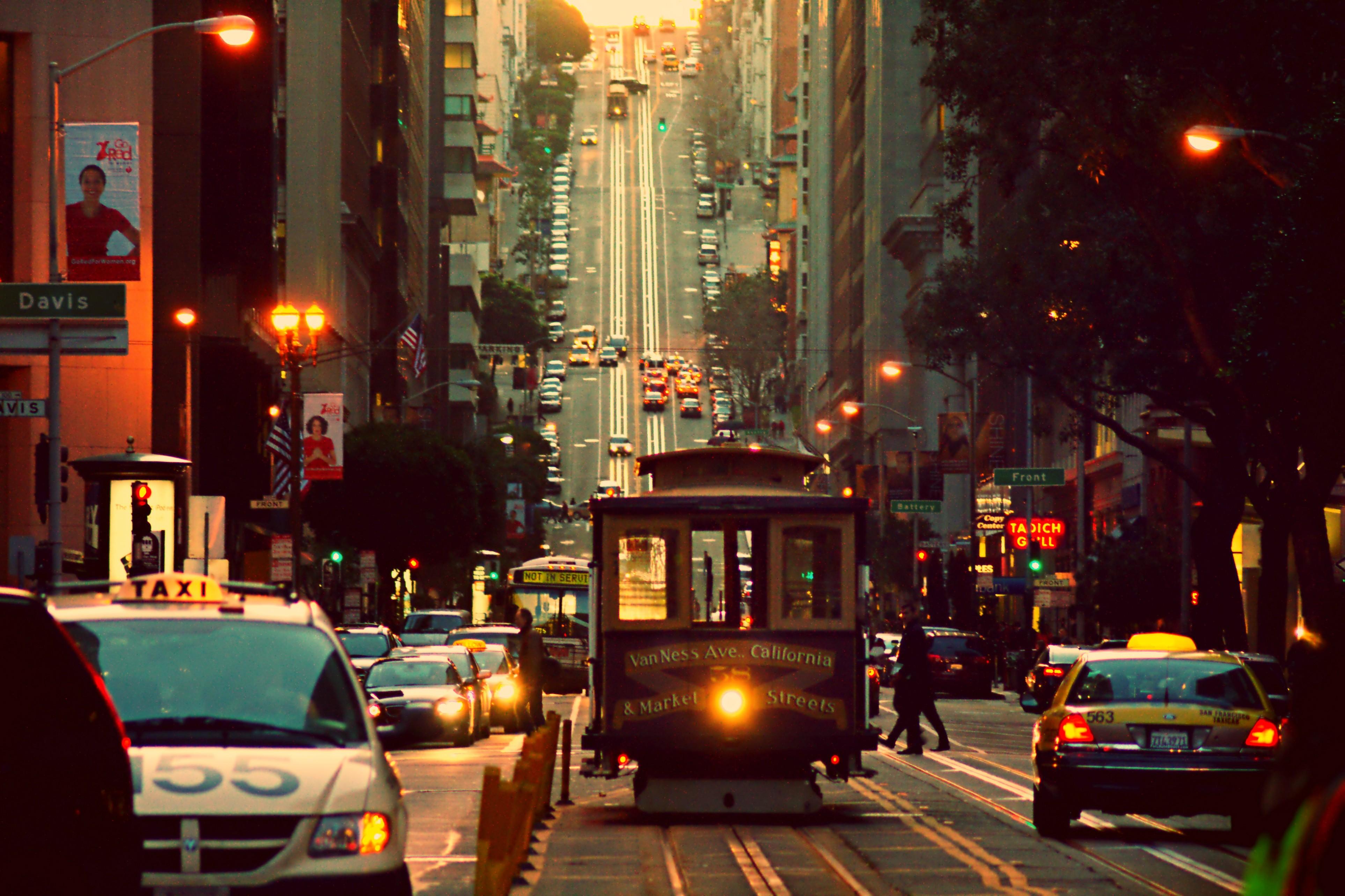 Обои lisbon, трамвай, ночь. Города foto 16