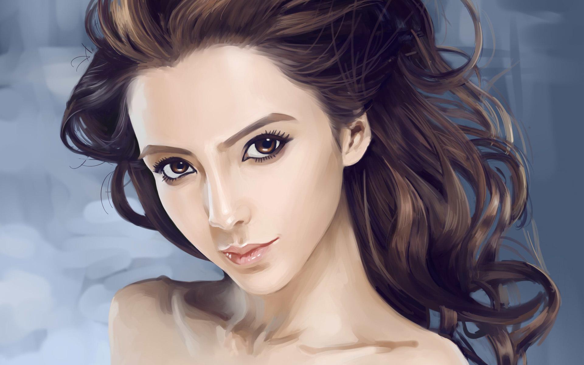 Картинки с девушками брюнетками нарисованными, прикольные картинки