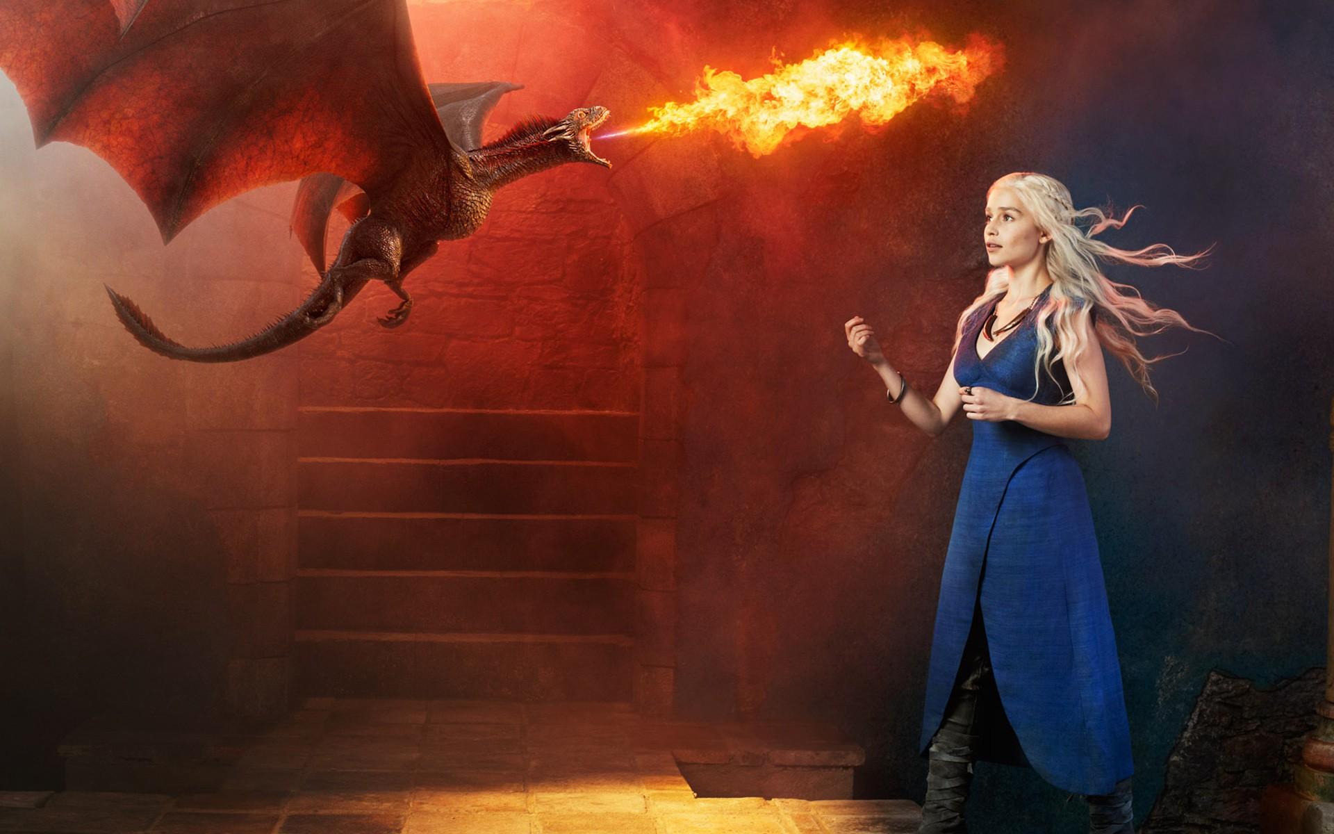 часто обои на рабочий стол дейнерис с драконами легендарной
