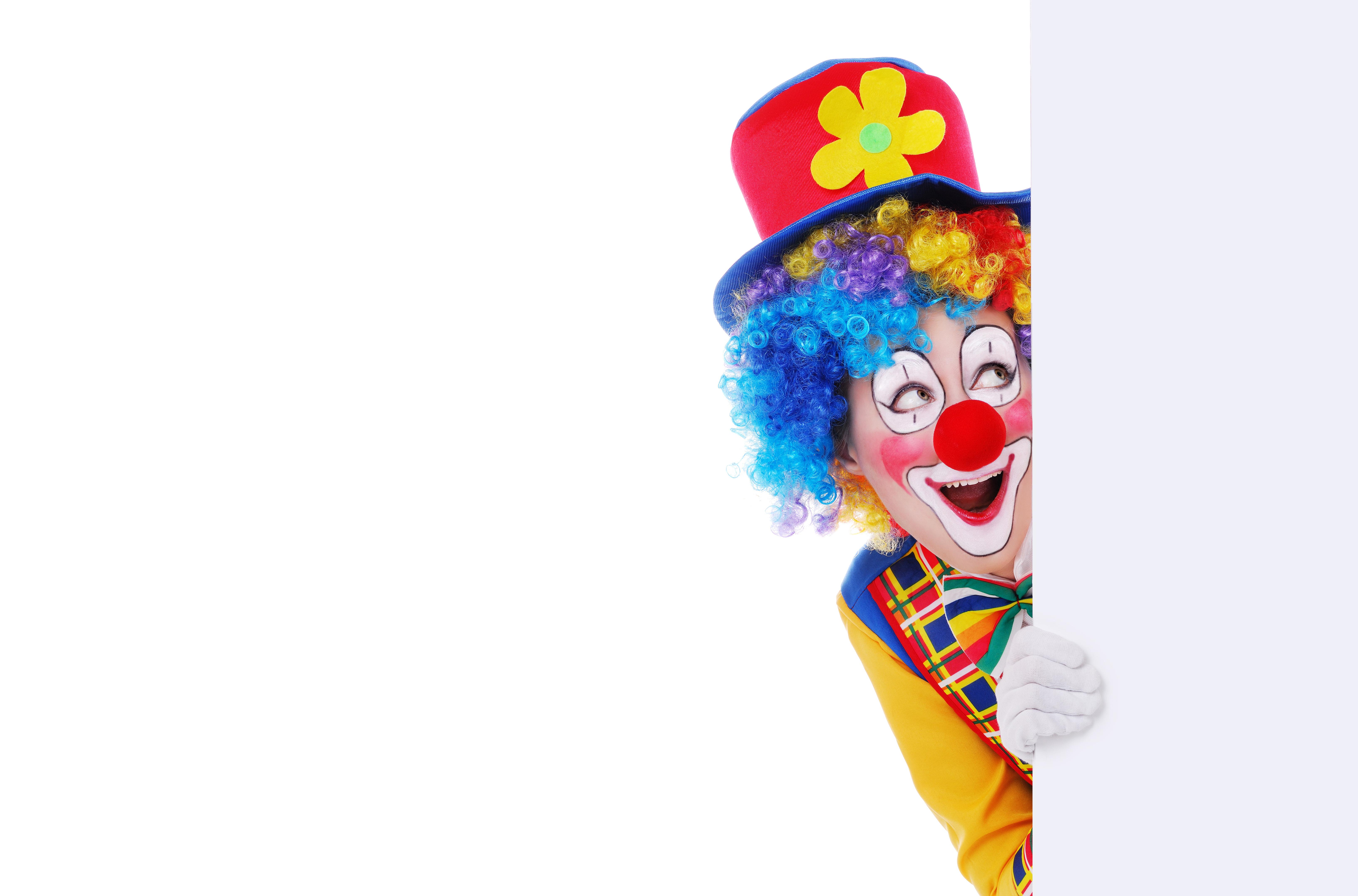 Открытки с клоуном, открытки день