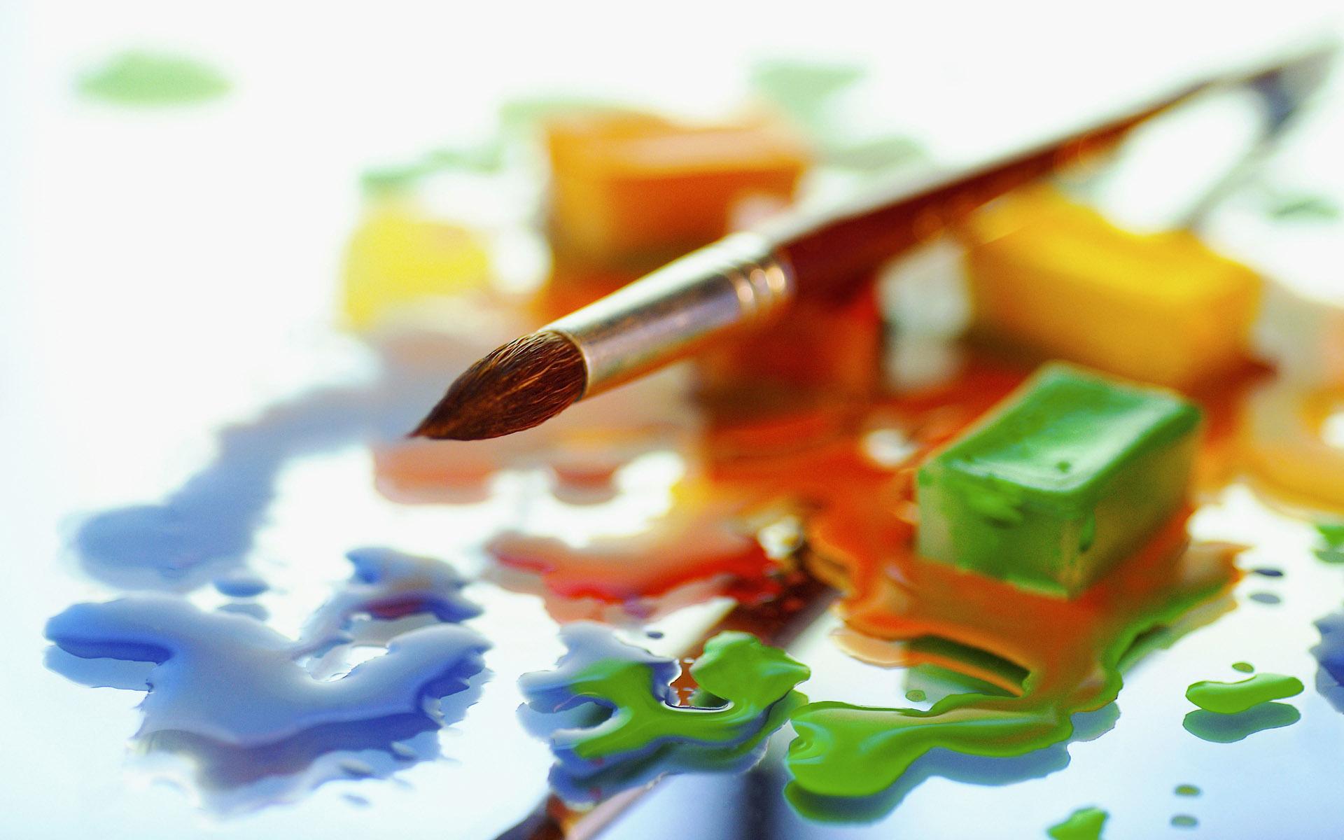 всего, если кисточки и краски картинки для презентации всё это