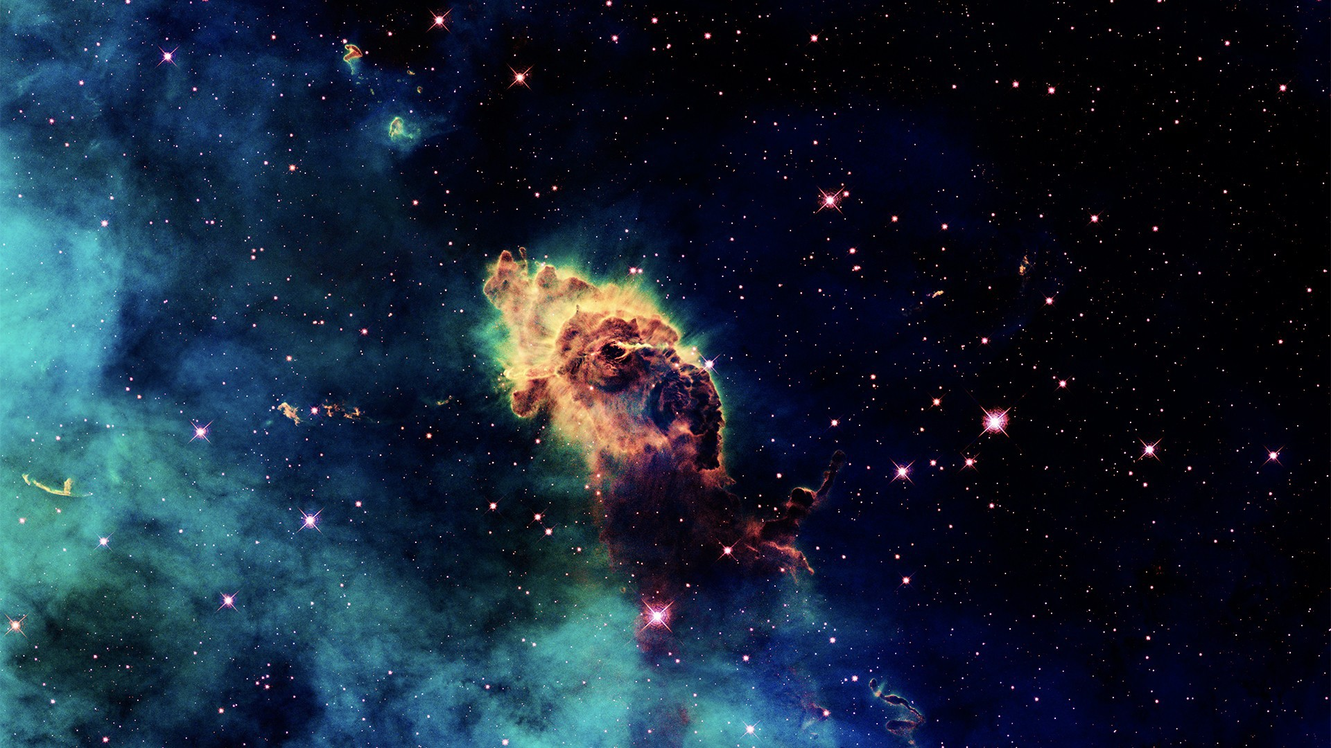 Обои огненный хвост, астероид, планеты. Космос foto 6
