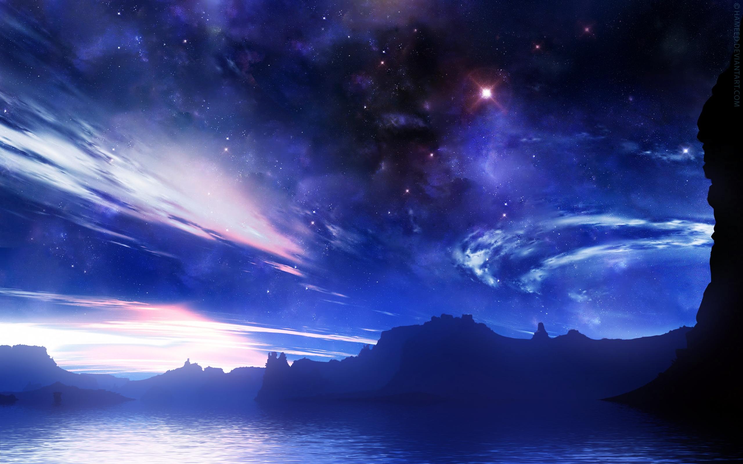 только красивое звездное небо картинка на рабочий стол око знак