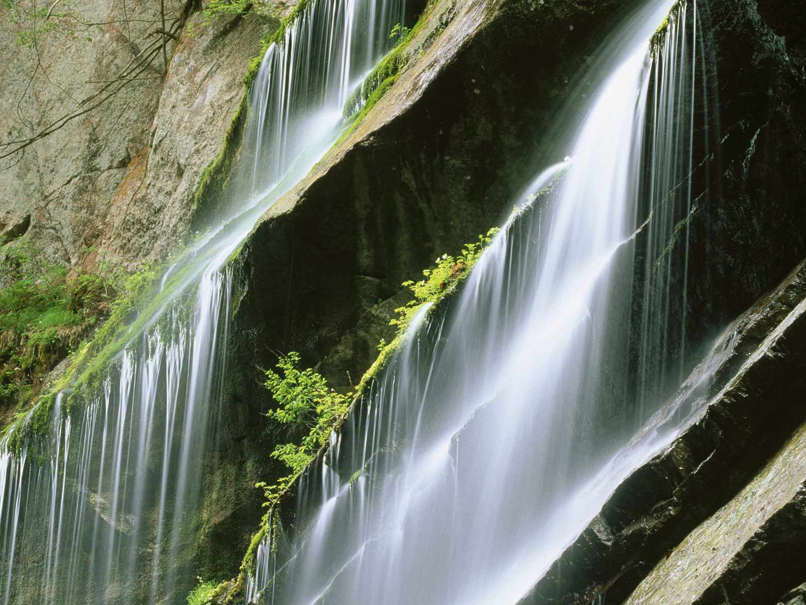 Wallpaper Cascading water