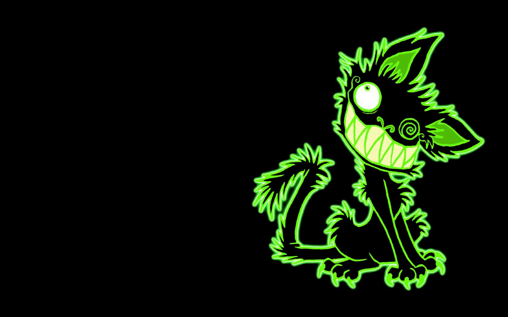 Чёрно-зелёные рисунки