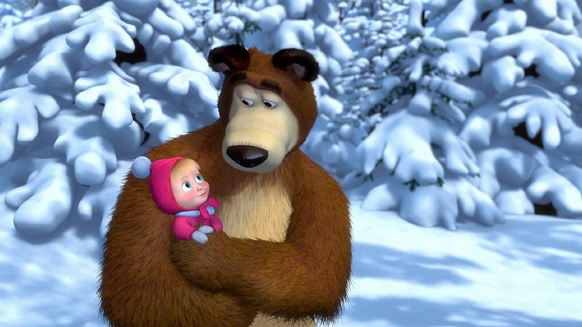 Обои рабочий стол мультфильма маша медведь