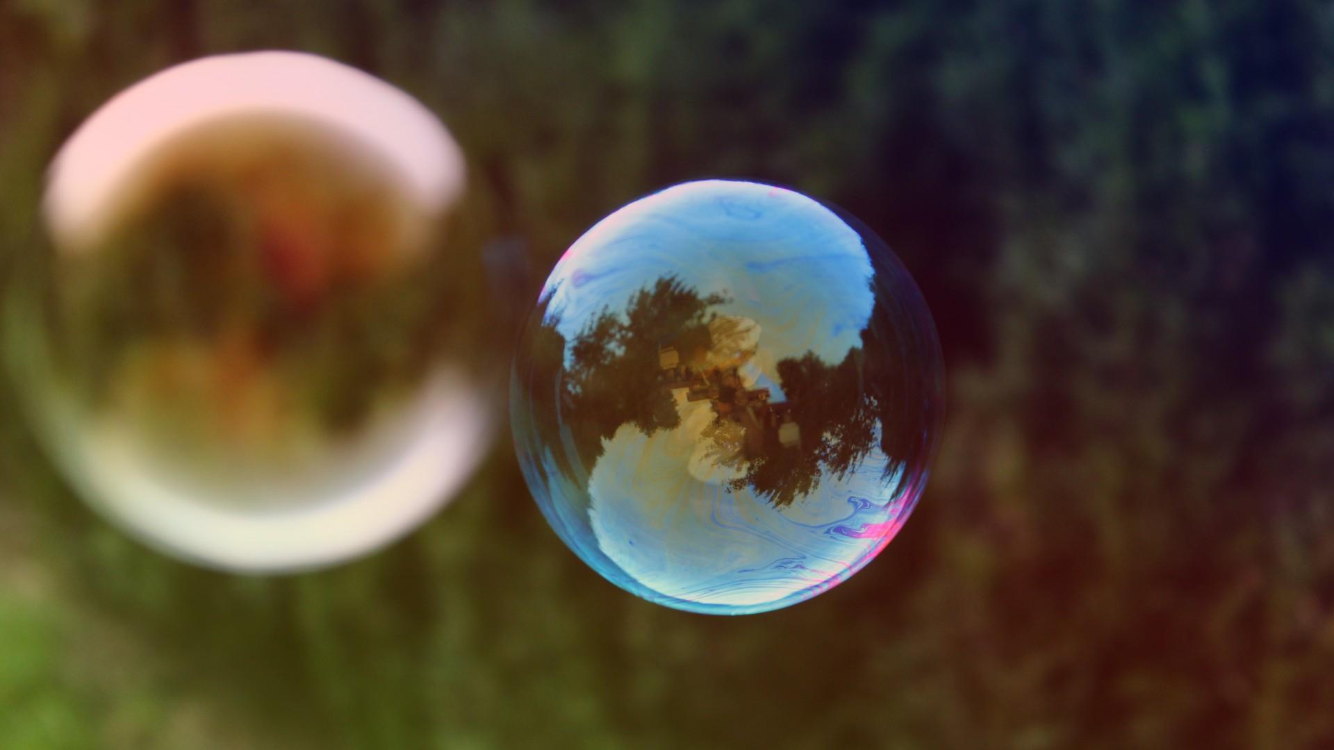 Широкоформатные обои на рабочий стол пузыри