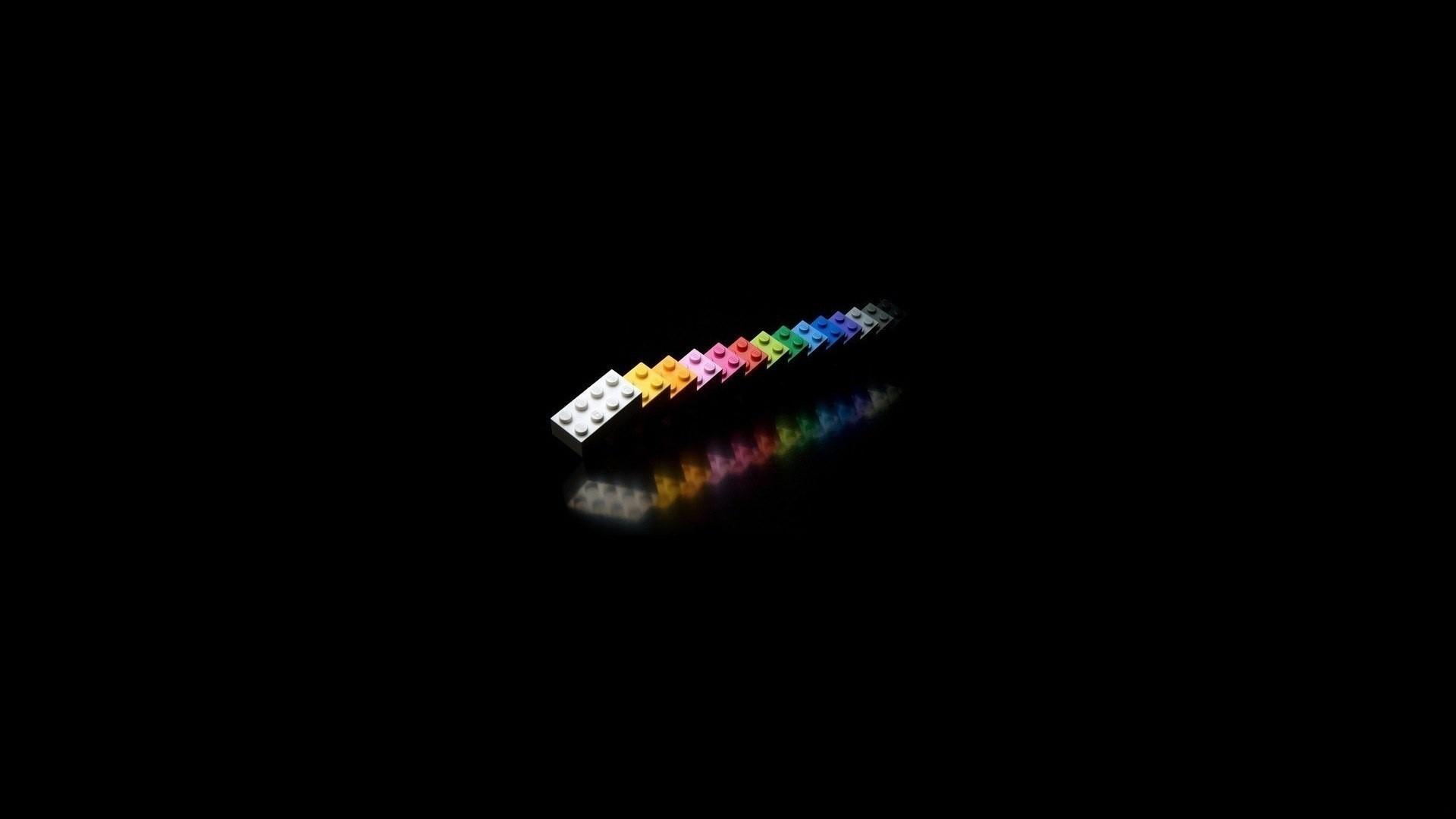 wallpaper lego on a black background » on-desktop - desktop