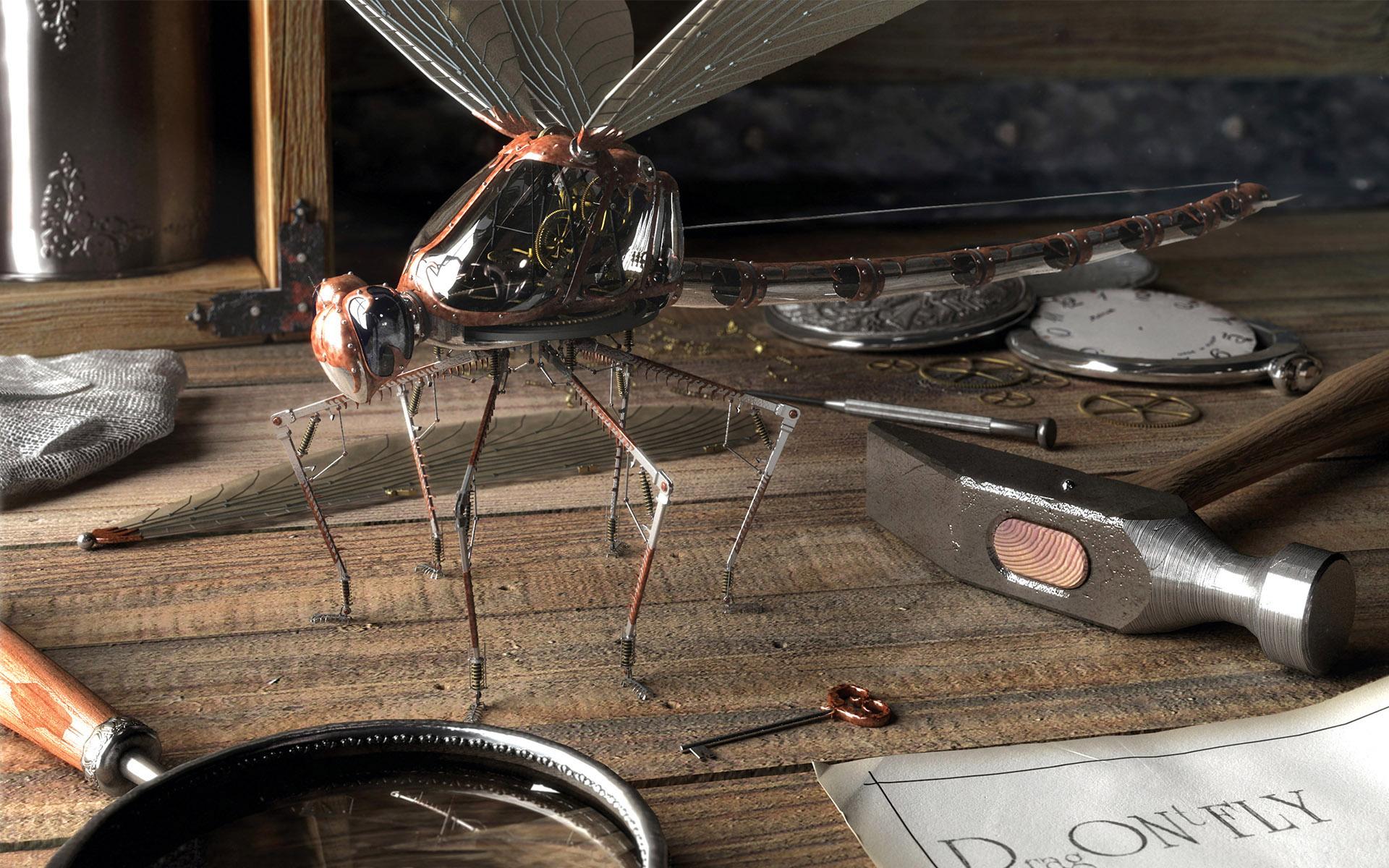 Обои для рабочего стола муху