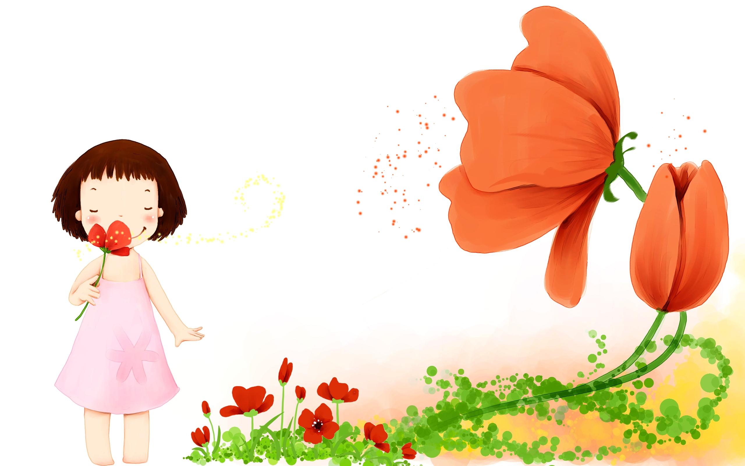 Рисунок для девочки цветы