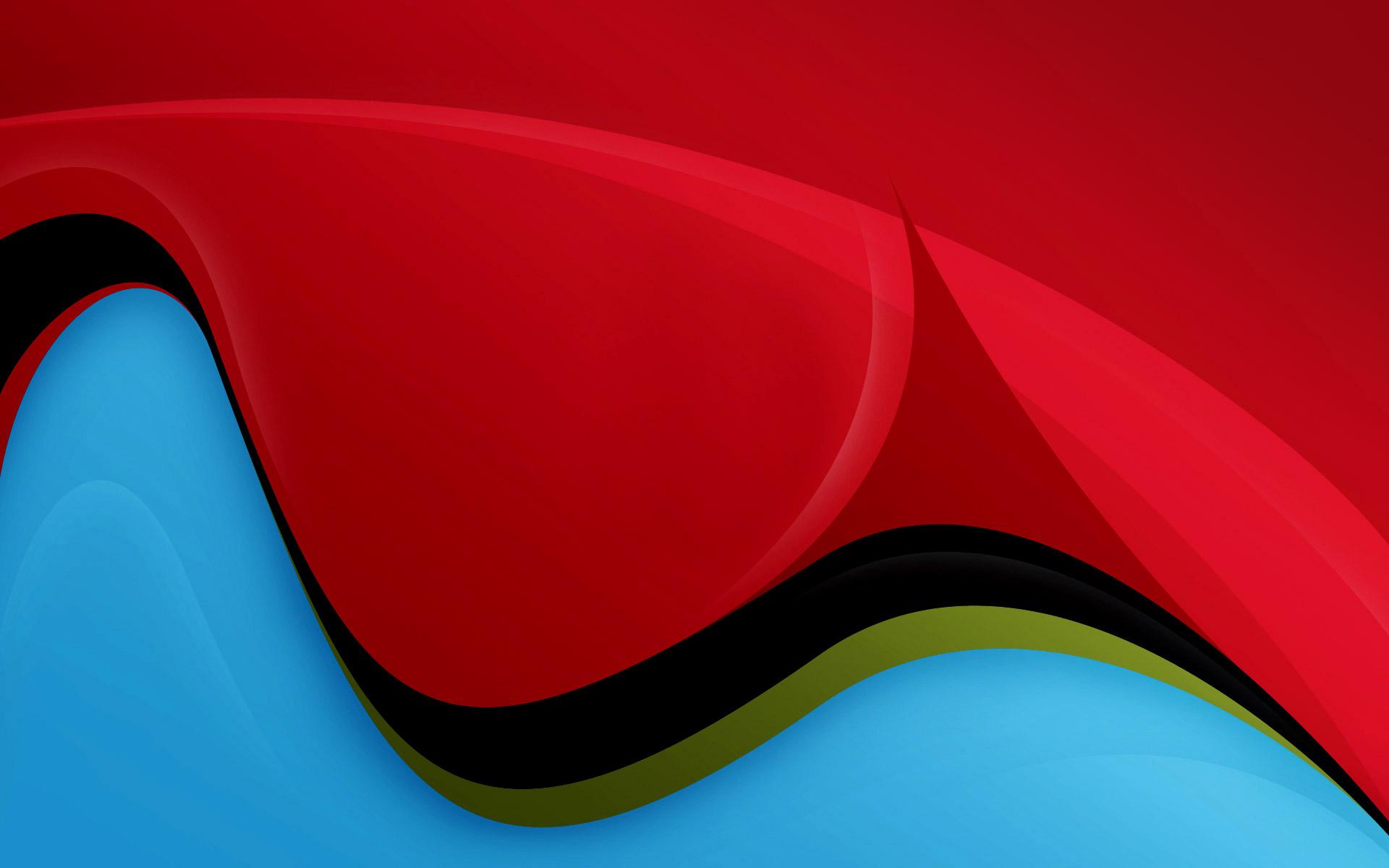 Wallpaper Red And Blue Waves On Desktop Com Desktop Wallpaper