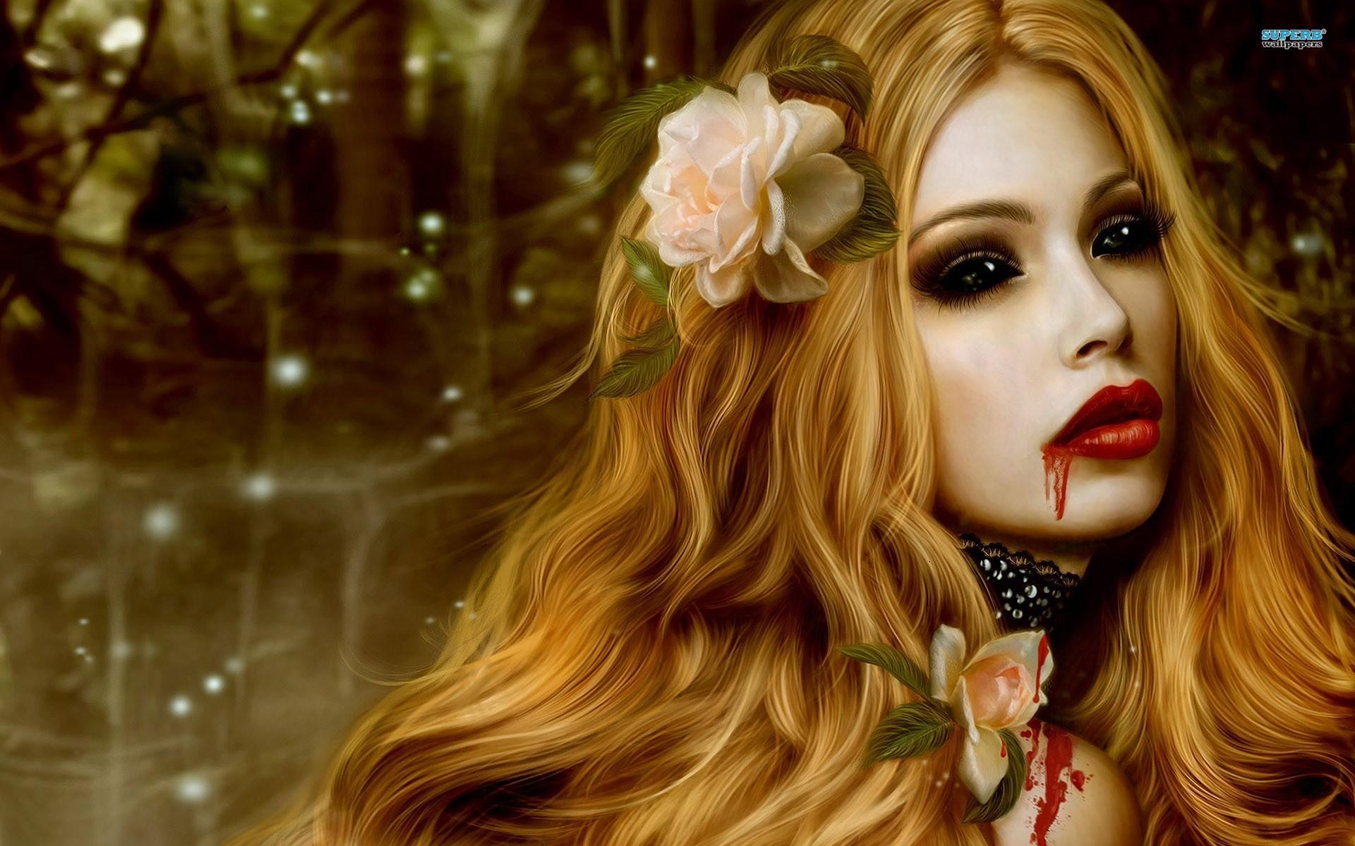 Реальные фото с девушками вампирами