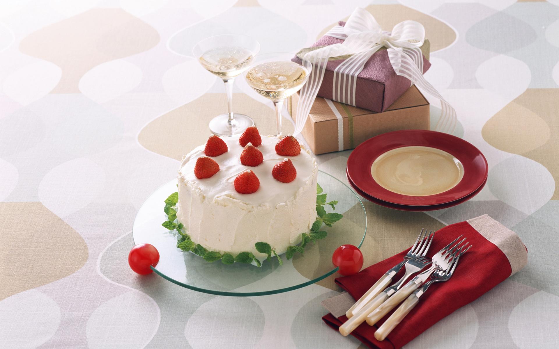 Обои на рабочий стол торты еда