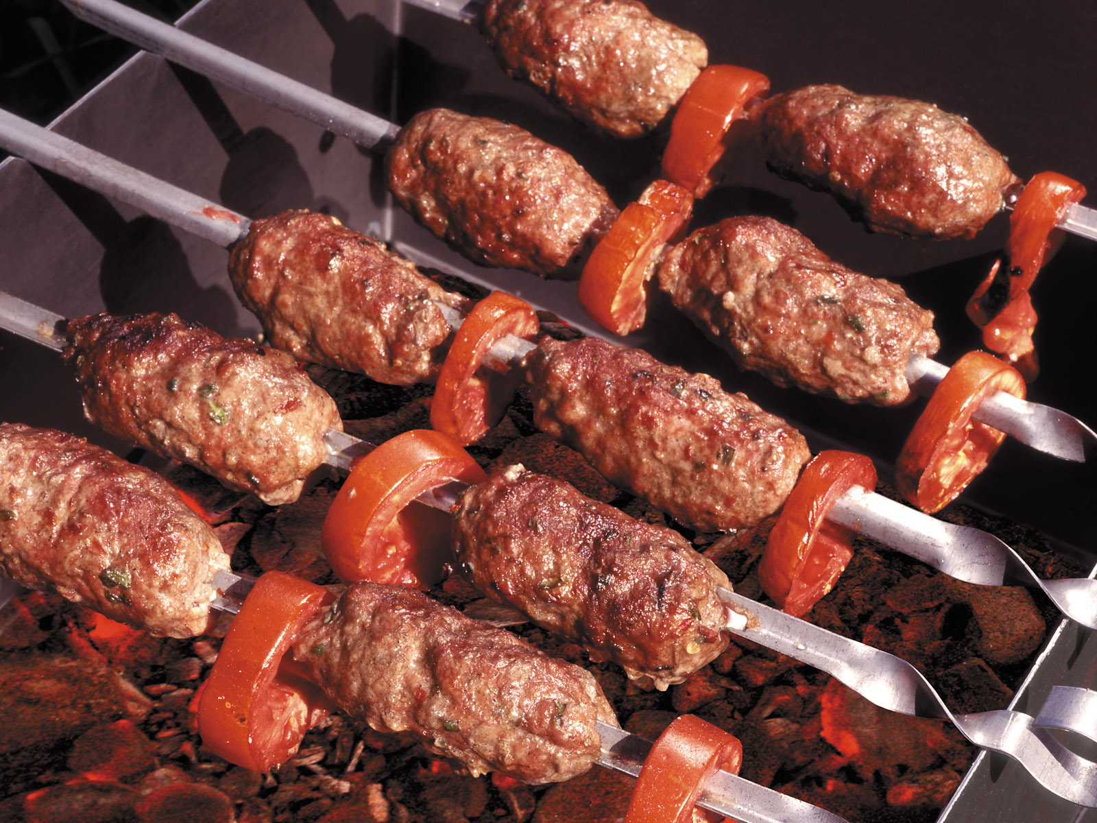 Шашлык из свинины, маринованый в помидорах - пошаговый 42