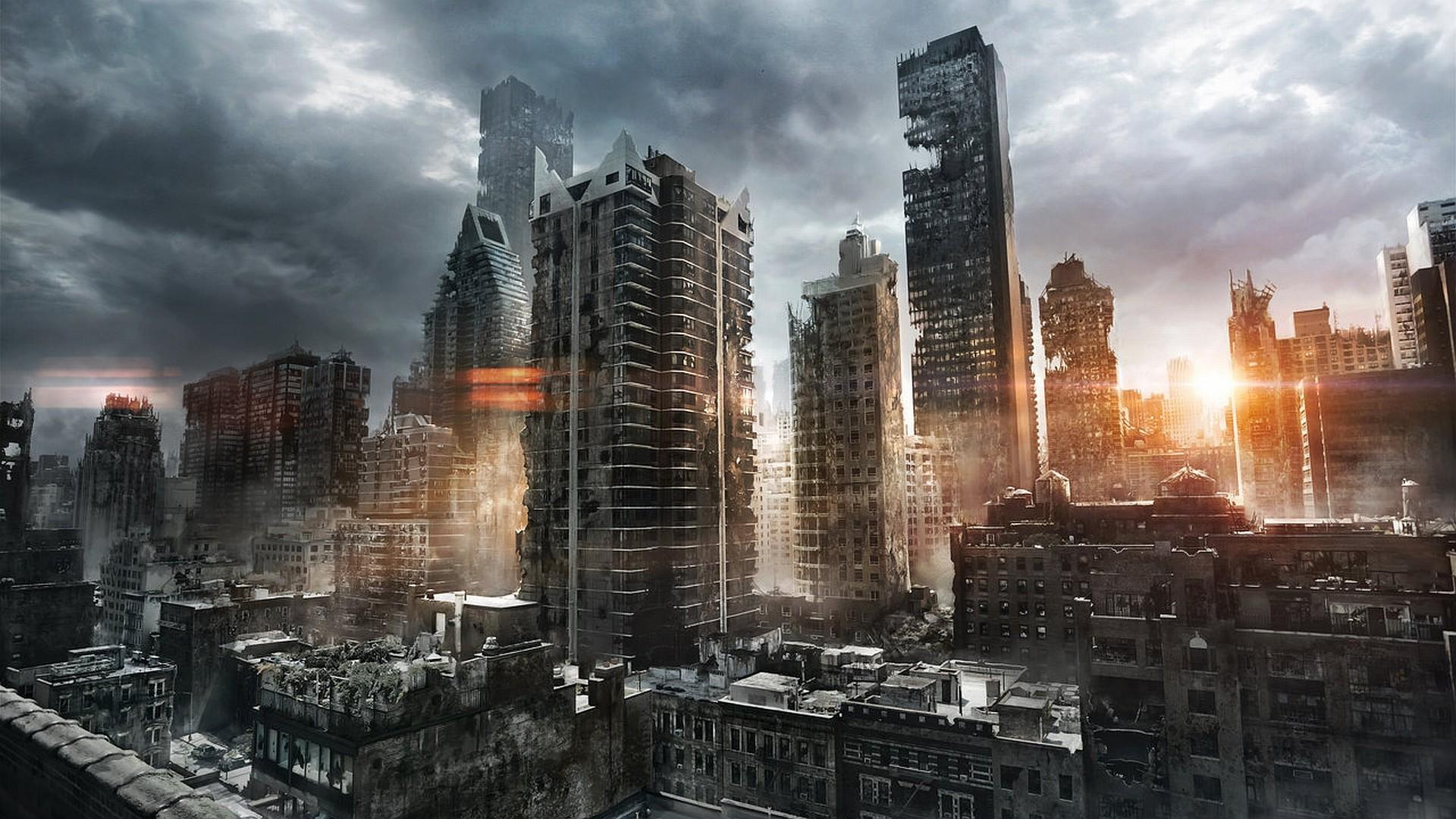 Рисунки разрушенного города