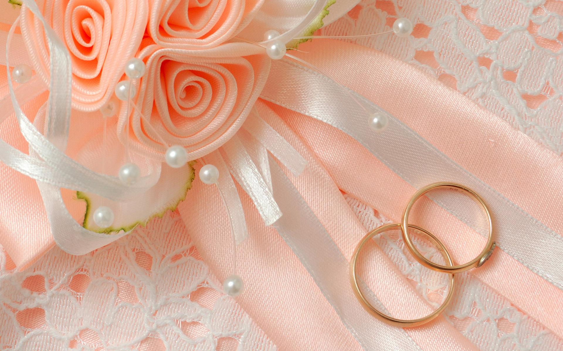 Открытки с свадебными кольцами