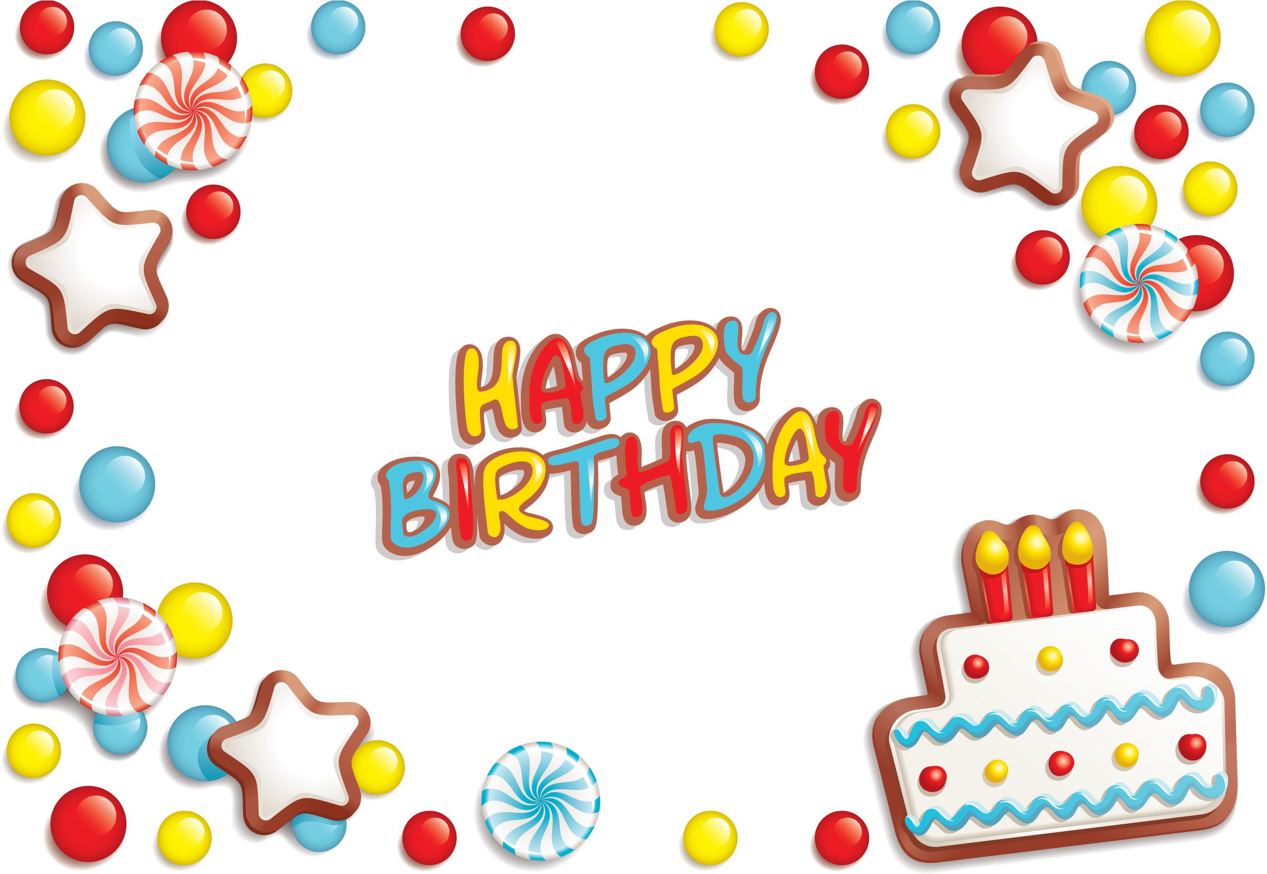 Элементы открытки с днем рождения 200