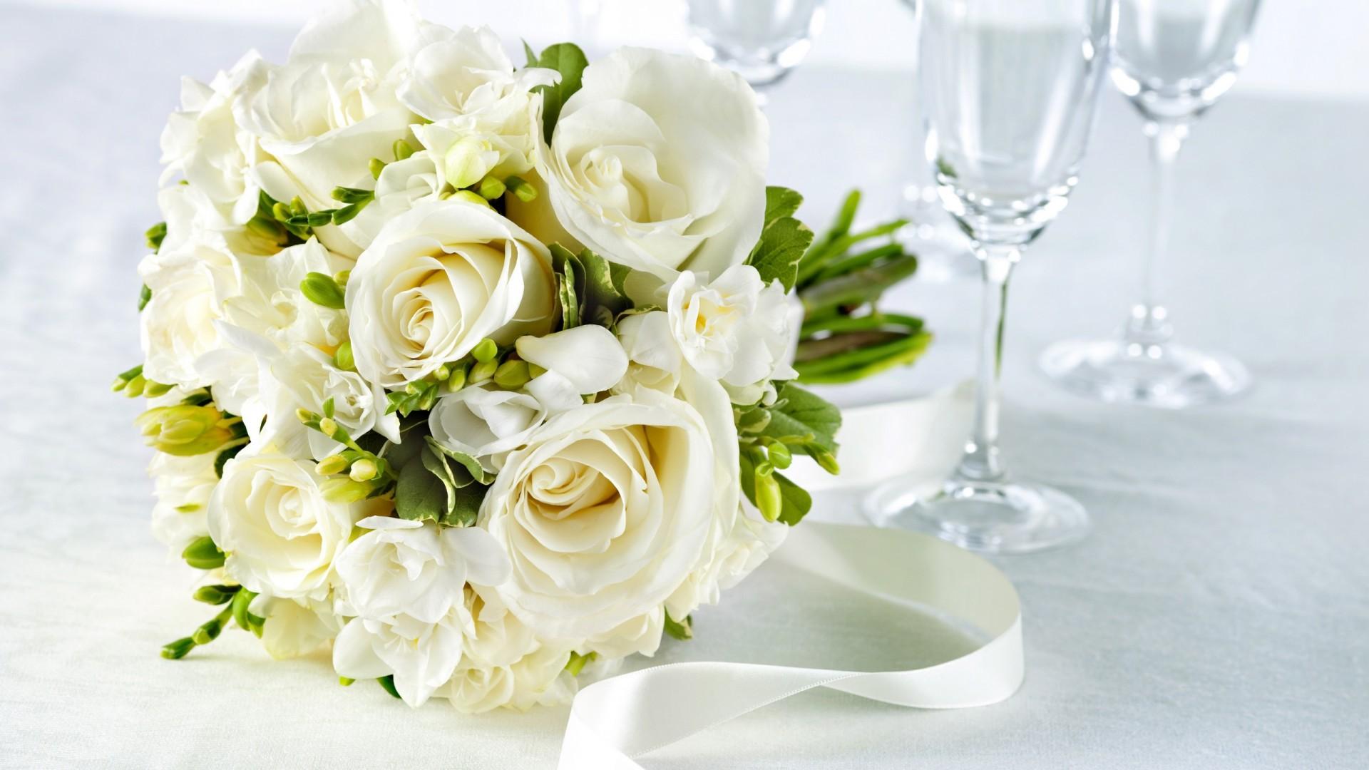 Открытки свадебный букет 39