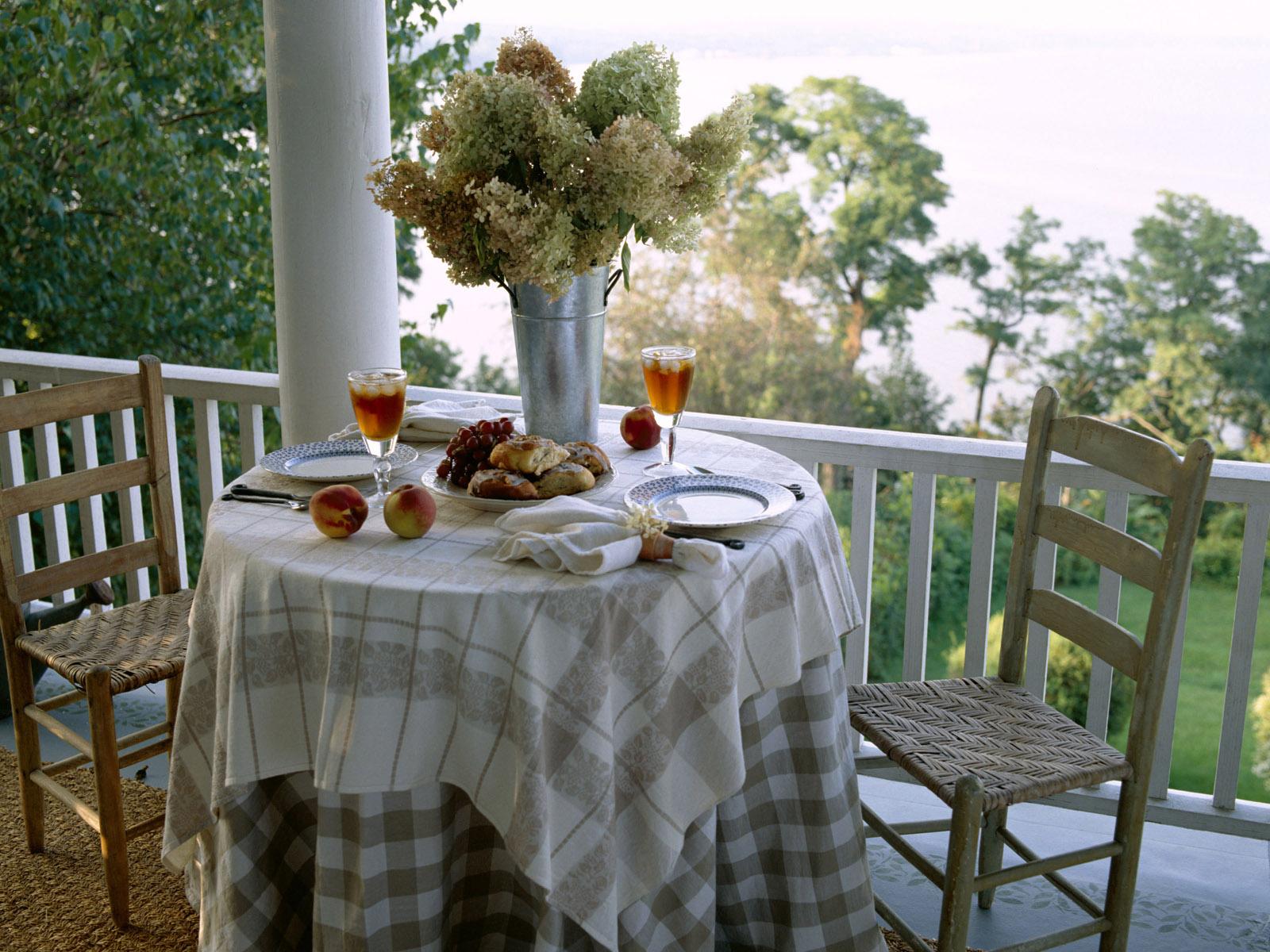 """Обои столик на балконе """" скачать красивые hd обои (картинки)."""