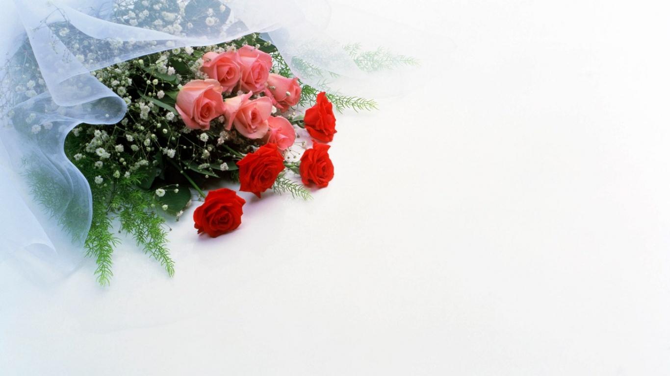 Открытка без слов цветы
