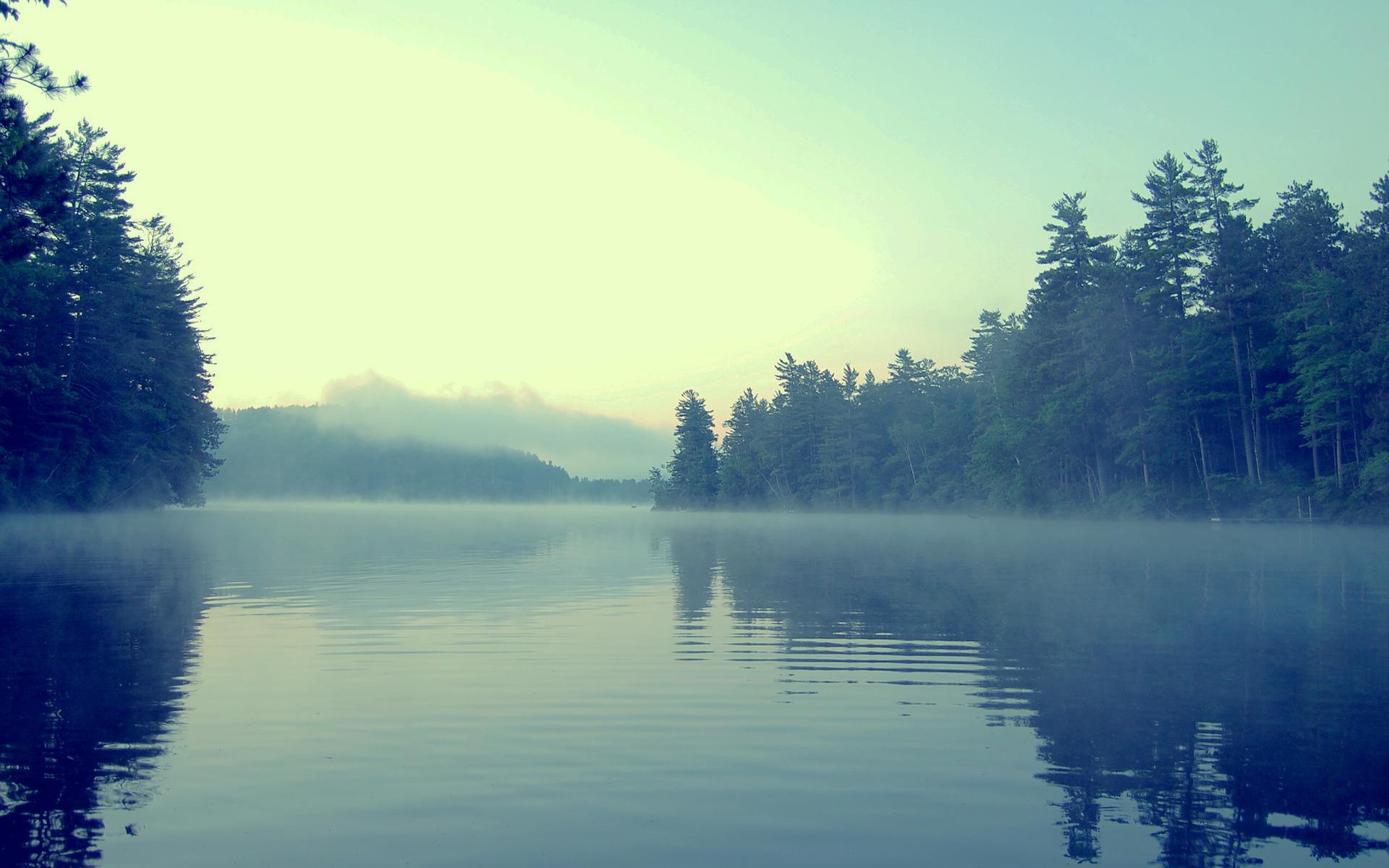 озеро туман обои на рабочий стол № 381708 бесплатно