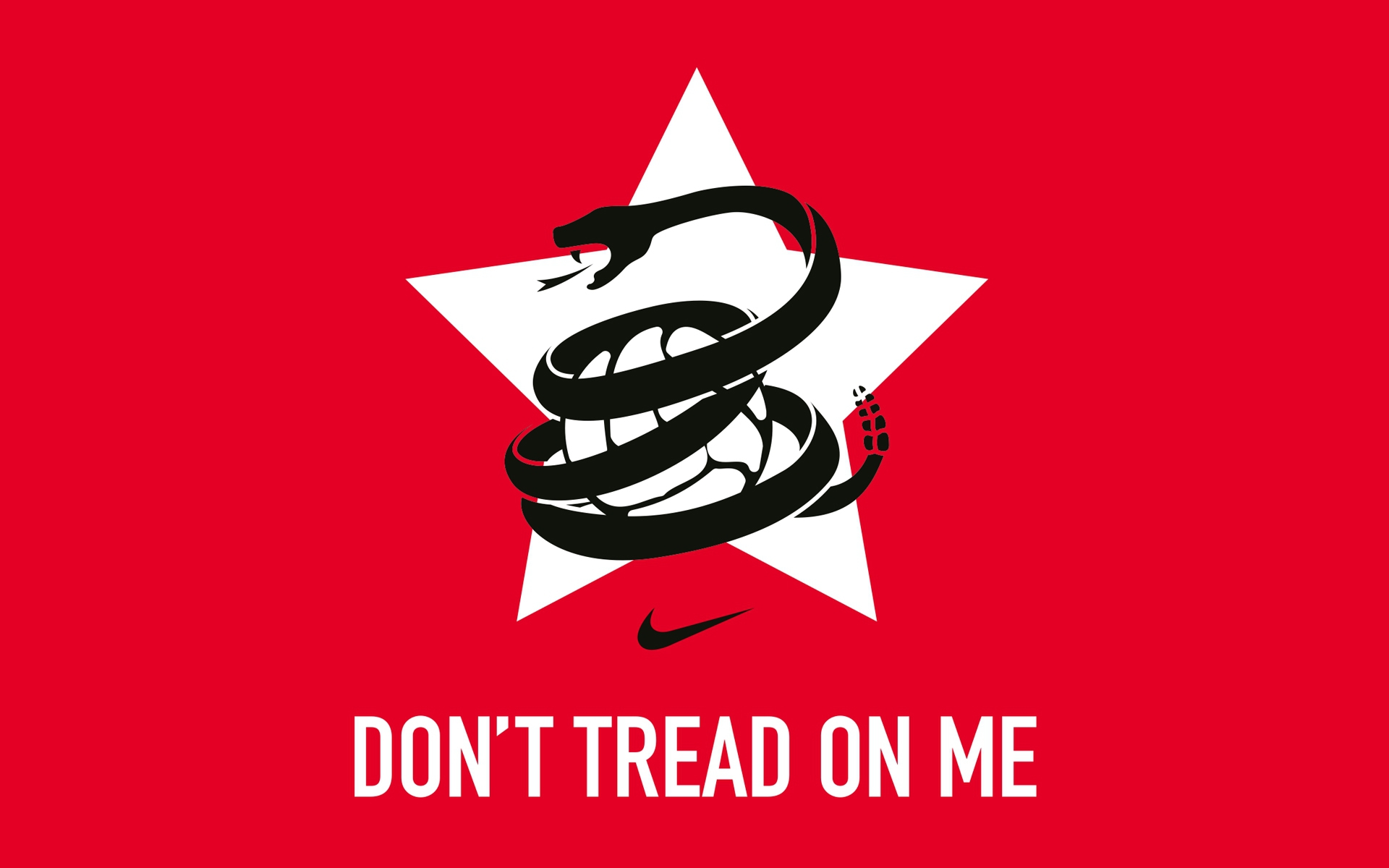 Wallpaper don`t tread on me Nike logo