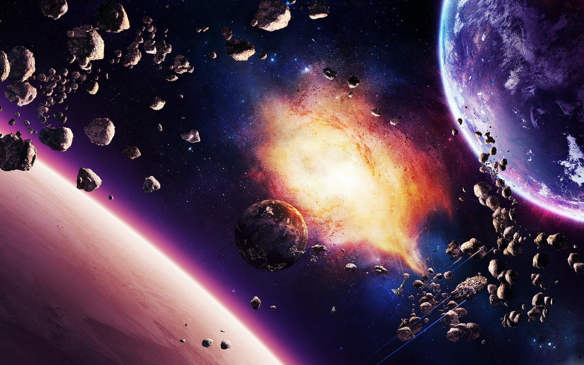 обои для рабочего стола космос метеориты № 610658  скачать