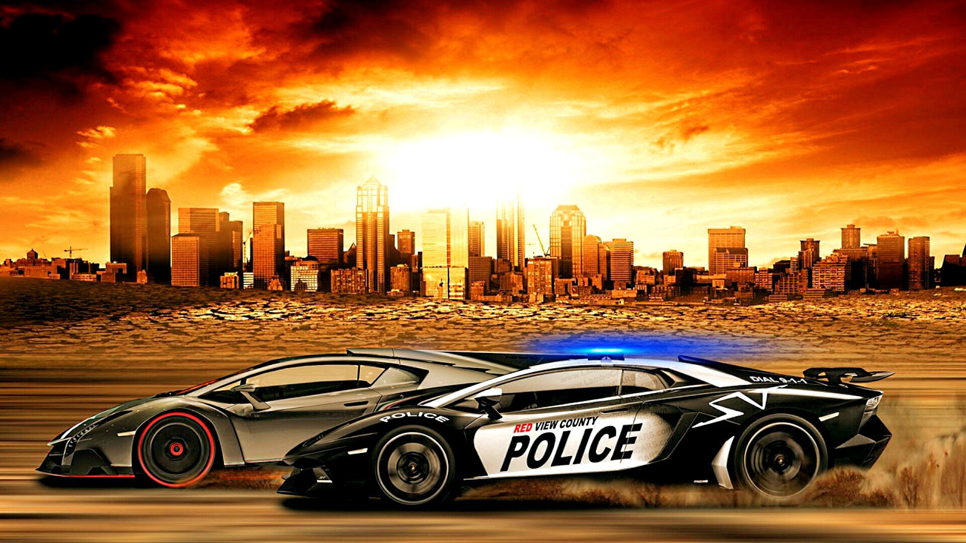 Need for Speed Rivals Cool Police Cars in HD Picture