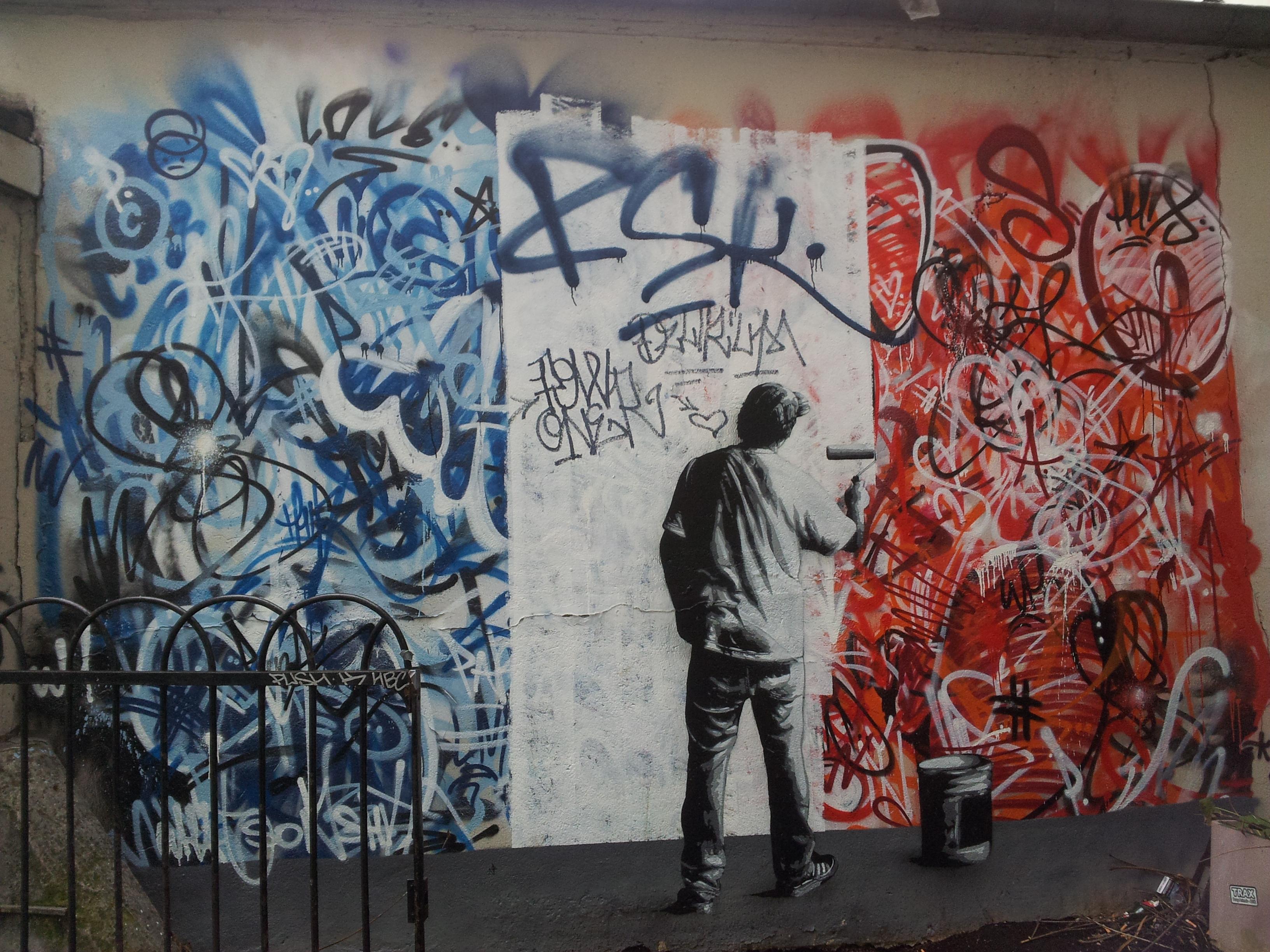 Как рисовать людей на стене